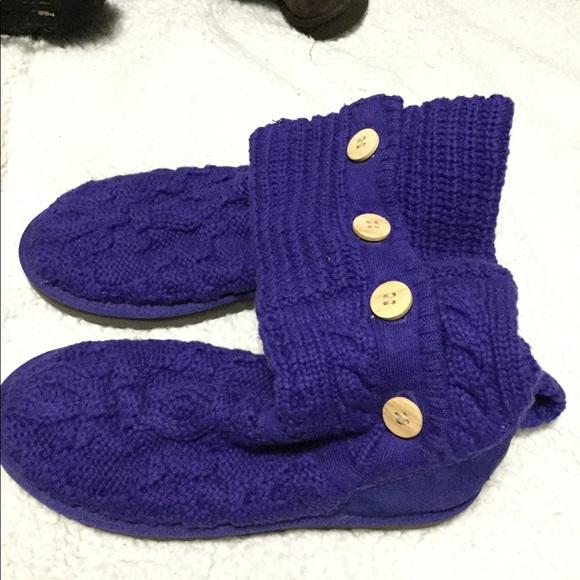 Ugg purple sweater boots